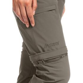 Maier Sports Inara Slim Pantalon convertible avec fermeture éclair Femme, teak